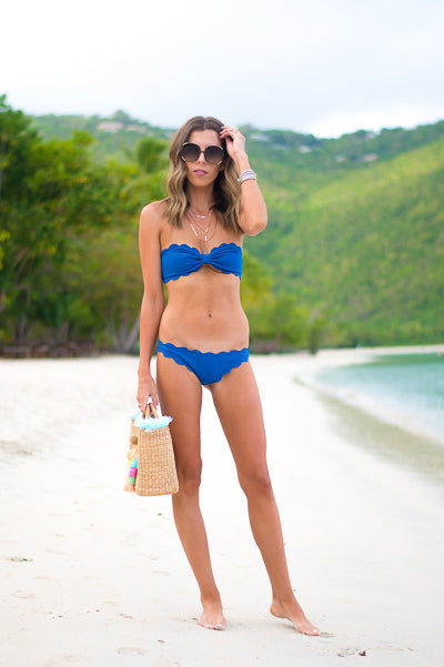Antibes Two Piece Bikini Top in Snorkel Blue
