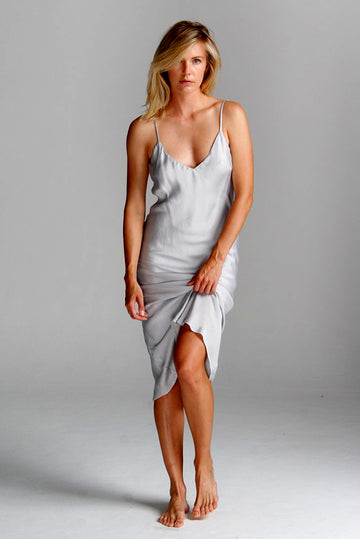 Vaea Slip Dress in Gray