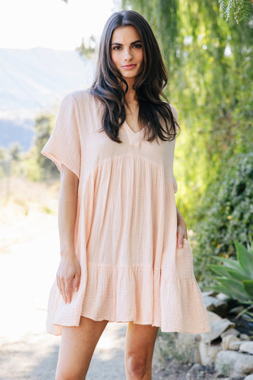 El Matador Cotton Tier Dress in Kissed