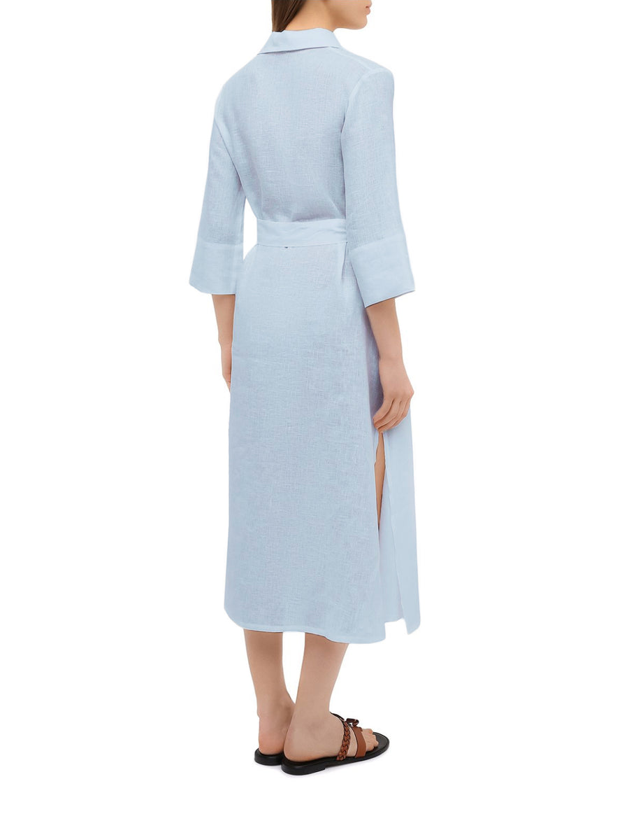 BF Shirt Dress in Sky Blue