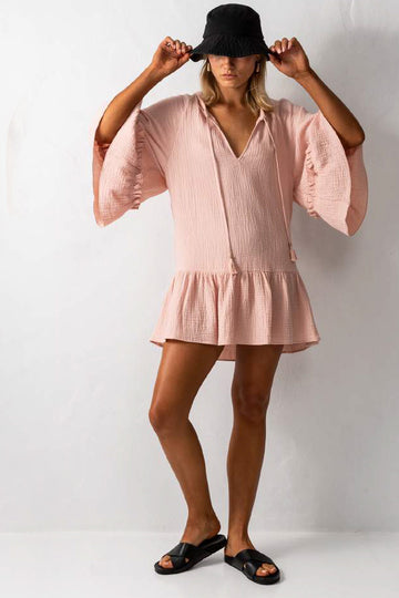 Mariposa Tunic Cover Up in Blush