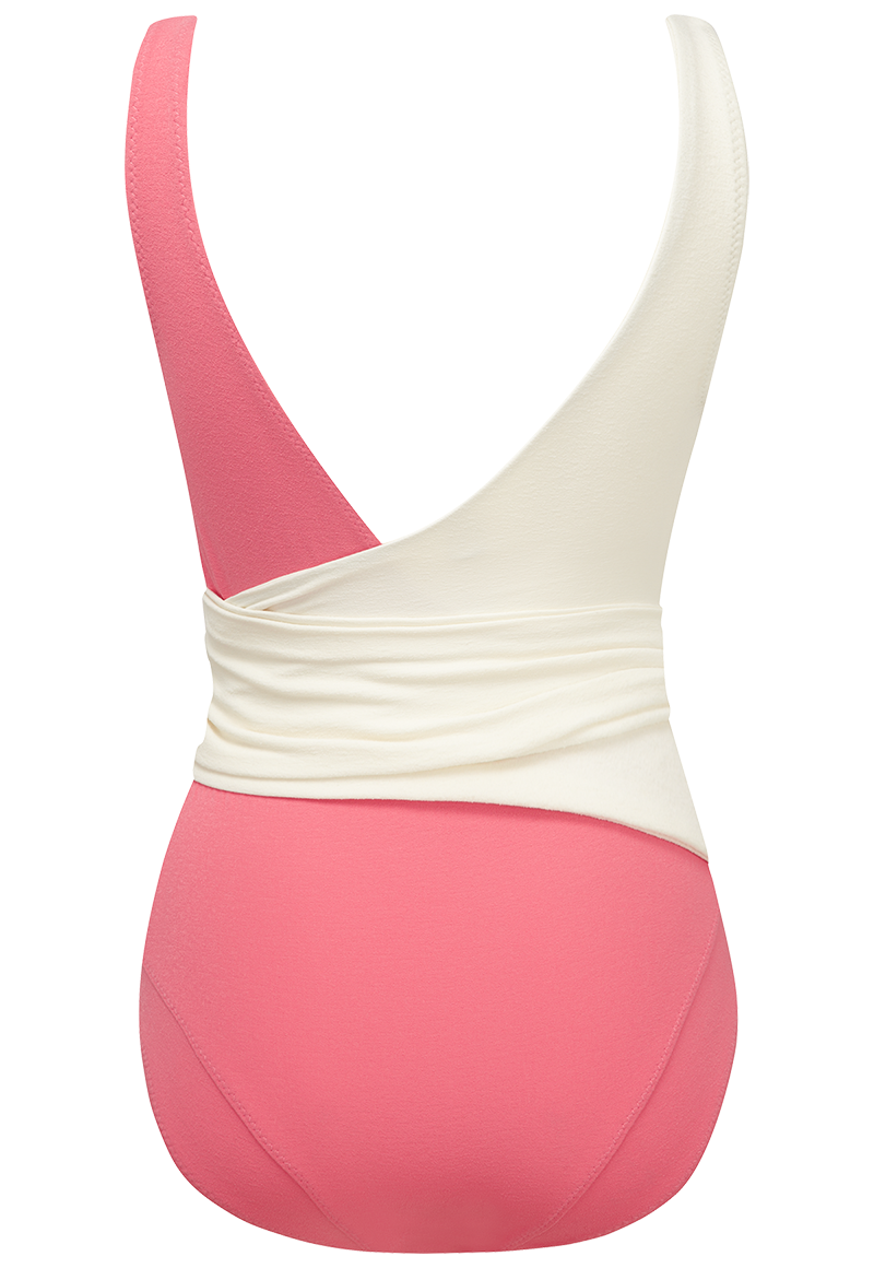 Dree Louise Pink Crepe Wraparound One Piece
