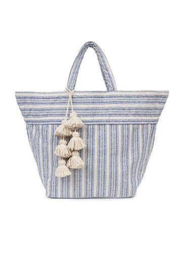 Sabai Small Tote in Indigo with Organic Tassel