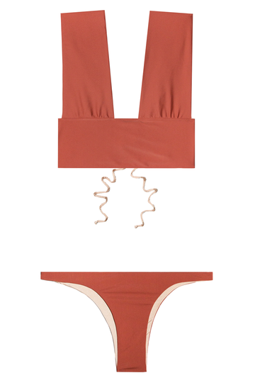 Bayer and Crux Two Piece Bikini in Clay
