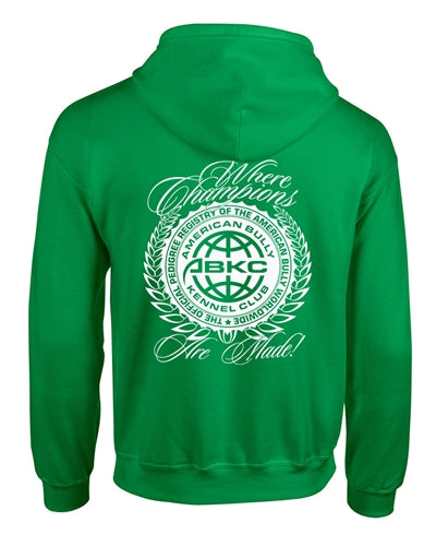 ABKC Where Champions Are Made Adult Zip up Hoodie