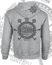 Bully Breed Society Logo Men's Zip Hoody