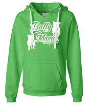 Bully Mama V Notched Sueded Pullover Hoodie