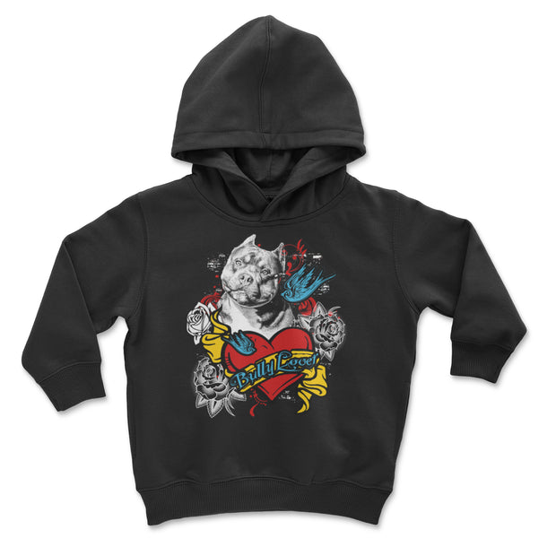 Bully Lover Tattoo Youth and Toddler Pullover Hoodie