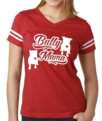 Bully Mama vneck football jersey