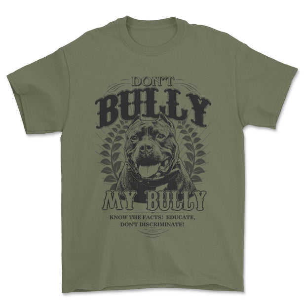 Don't Bully My Bully Adult T Shirt
