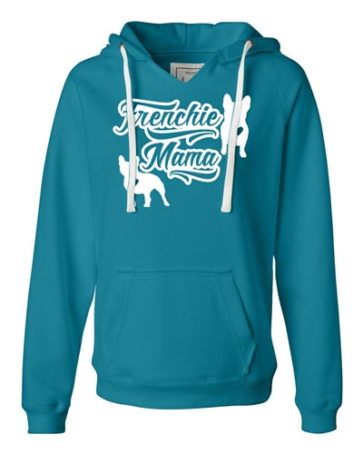 Frenchie Mama Women's V Notched Hoodie