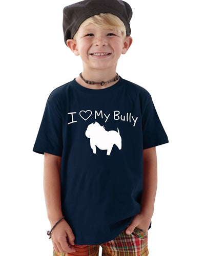 I LOVE MY BULLY PIT BULL TODDLER SHIRT