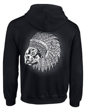 Indian Bully Club Adult Full Zip Bully Hoodie