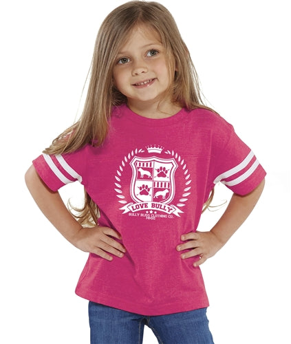 LB SHIELD COLLECTION Toddler Tee pink or blue