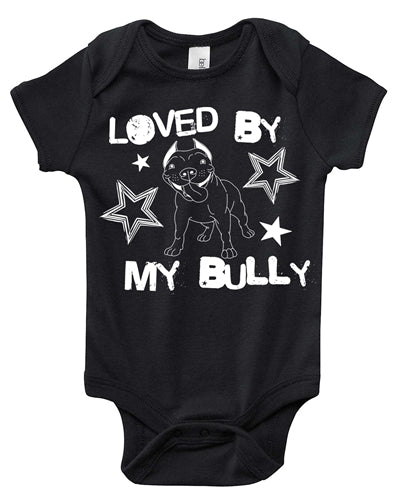LOVED BY MY BULLY BABY ONESIE 4 COLORS