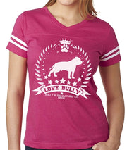 Love Bully Wreath Women's vneck football jersey