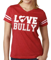 Love Bully Women's vneck football jersey Tee
