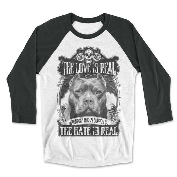 The Love Is Real Unisex Fit Baseball Raglan Shirts