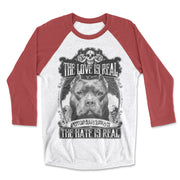 The Love Is Real Unisex Fit Baseball Raglan