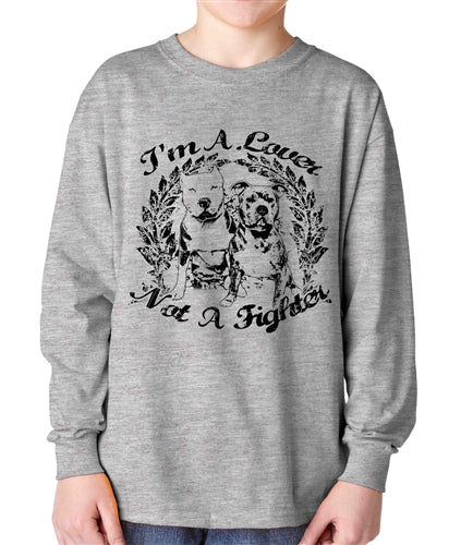 Not A Fighter Kids Long Sleeve