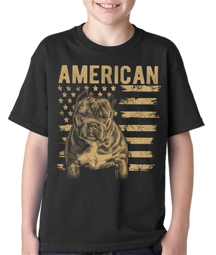 Patriotic Bully Kids T Shirt