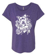 Pibble Lover Women's Flowy Shirt