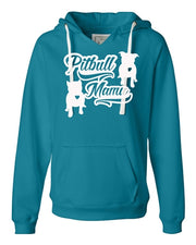 PitBull Mama V Notched Sueded Pullover Hoodie