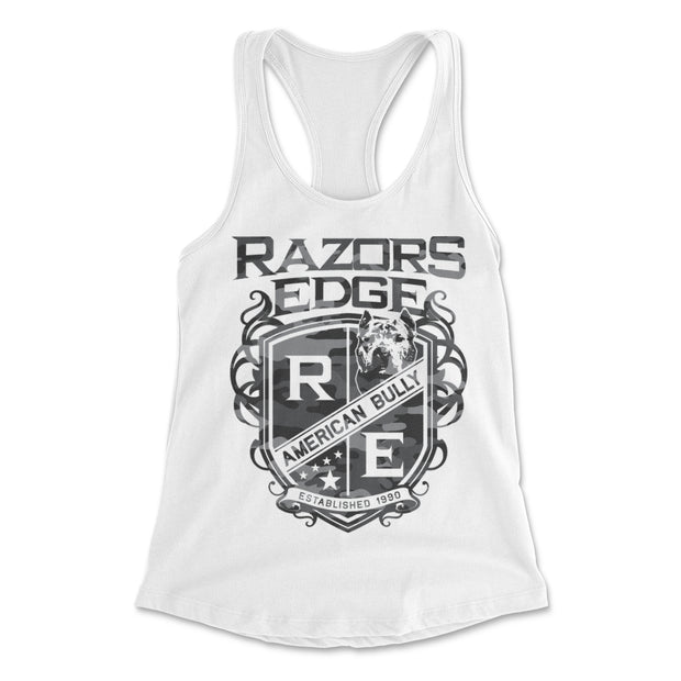 Razors Edge Grey Camo Women's Tank Top