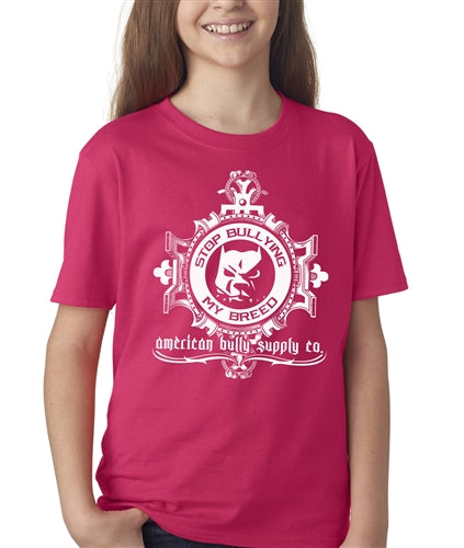Stop Bullying Logo Kids Pit bull t shirt