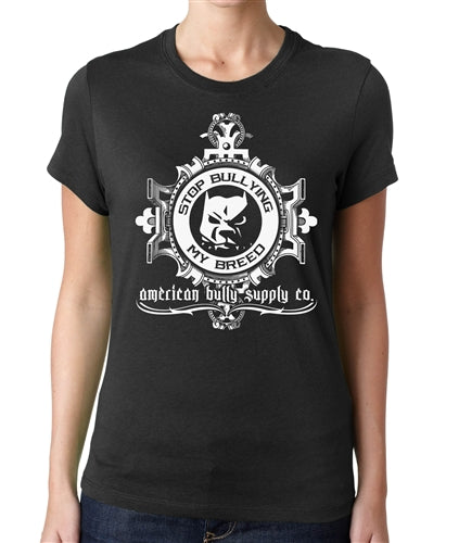 Stop Bullying Logo Women's Fitted Tee