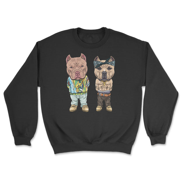 Tupac and Biggie American Bully Crew Neck Sweater
