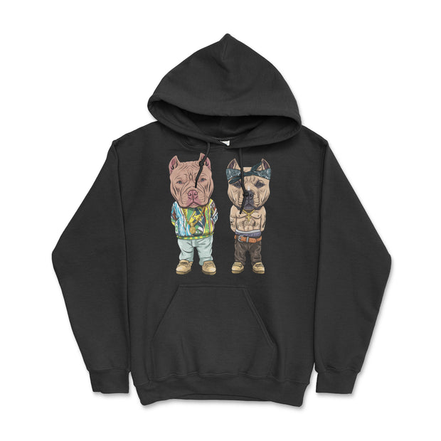 Tupac and Biggie American Bully Pullover Hoodie