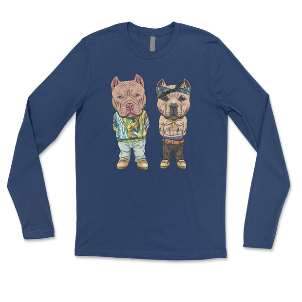 Tupac and Biggie American Bully Adult Long Sleeve Shirt