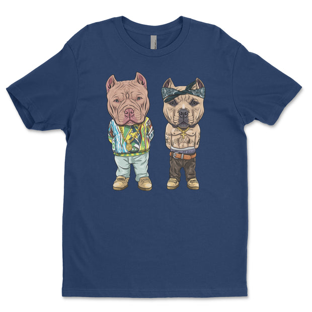 Tupac and Biggie Bully Adult T Shirt