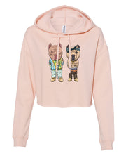 Tupac and Biggie American Bully Ladies Crop Hoodie