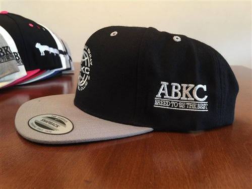 ABKC  Black with Silver bill Flatbill Snapback