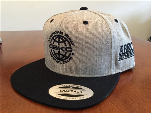 ABKC Twill Gray Black bill Flatbill Snapback