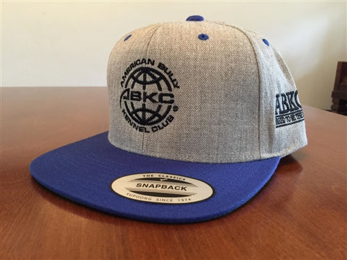 ABKC  Twill with Royal Blue Flatbill Snapback