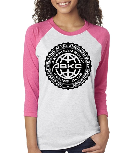 ABKC Seal Unisex Baseball Raglan for Women
