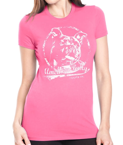 All American Pit Bull Womens Crew Neck