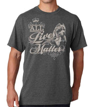 All Lives Matter Pit Bull Bully Men's Crew Neck Tee