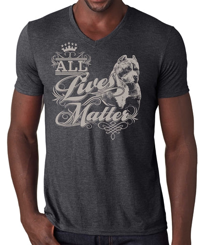 All Lives Matter Pit Bull Bully Men's V Neck Tee