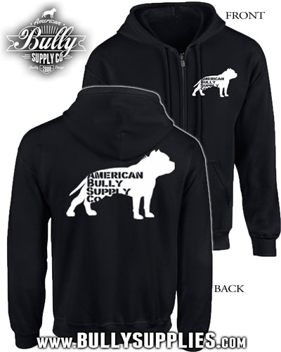 American Bully Supply Co. Logo Men's Zip Hoody