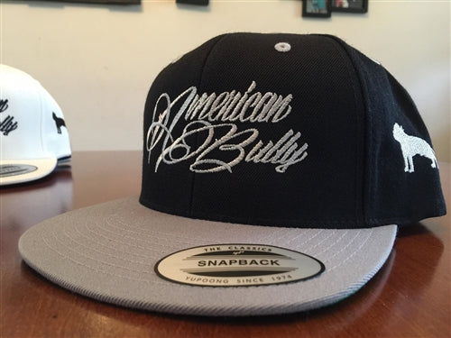 American Bully Black/gray bill Flatbill Snapback