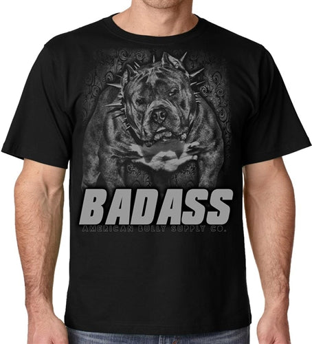 Bad Ass American Bully clothing Men's Crew Neck T Shirt