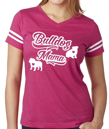 Bulldog Mama Women's Football Jersey English Bulldog Shirt