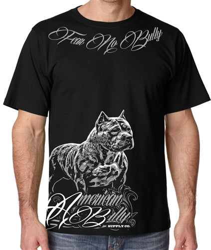 Fear No Bully Mens Pit Bull Crew Neck Shirt