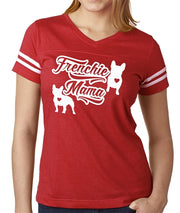 Frenchie Mama Women's Football Jersey French Bulldog Shirt