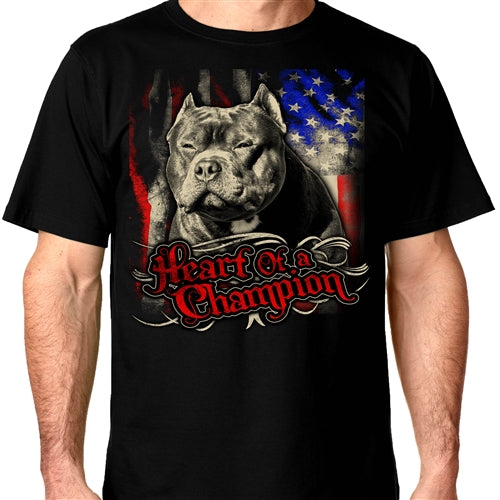 American Bully Supply Co. Heart of a champion Crew Neck Shirt