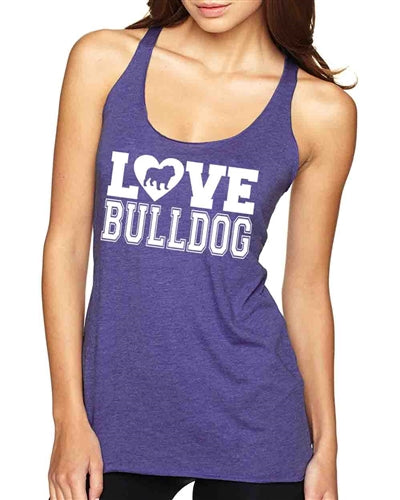 Love Bulldog Tri Blend Tank Top